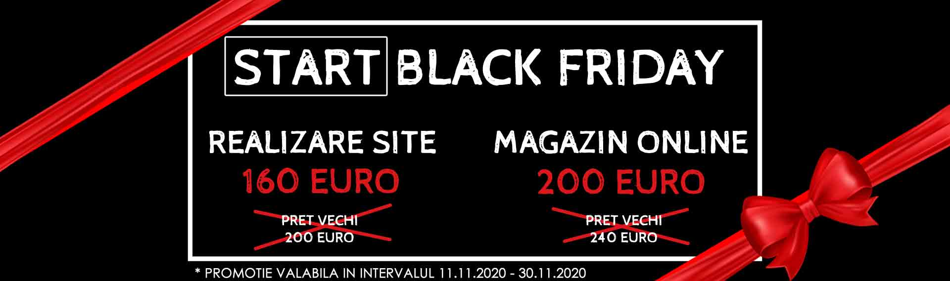 realizare website Black Friday